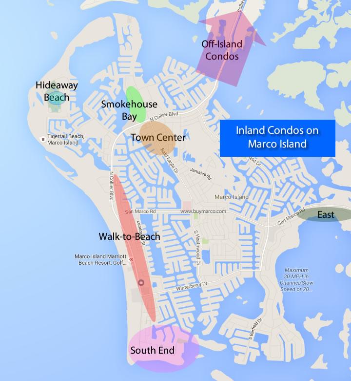 Marco Island Condo Map Marco Island Inland Condos   Condominiums Not On The Water