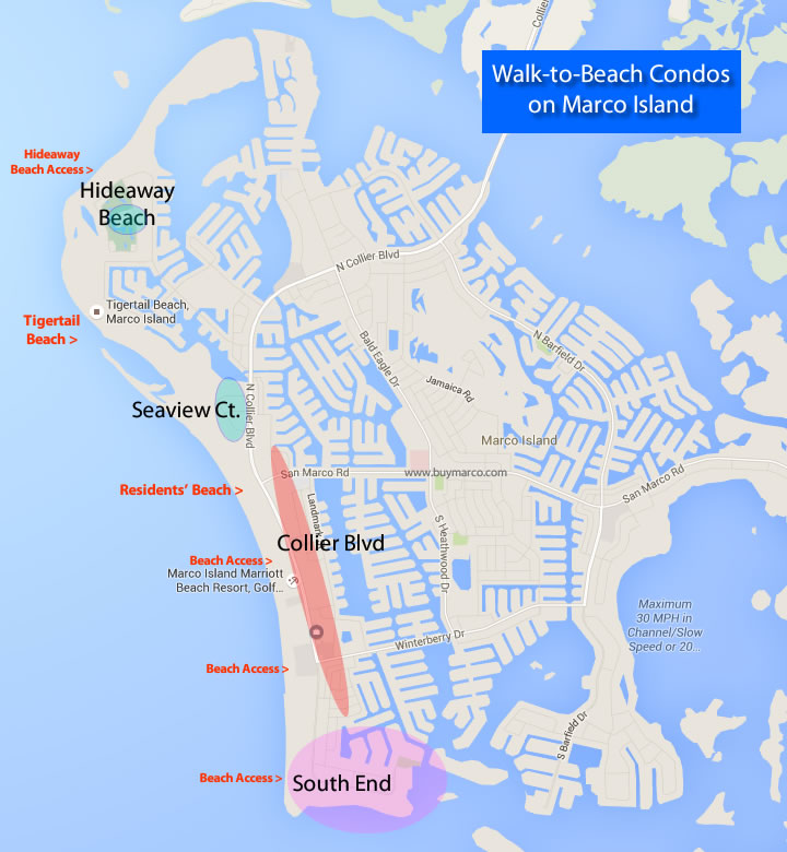 Walk To Beach Condo Map